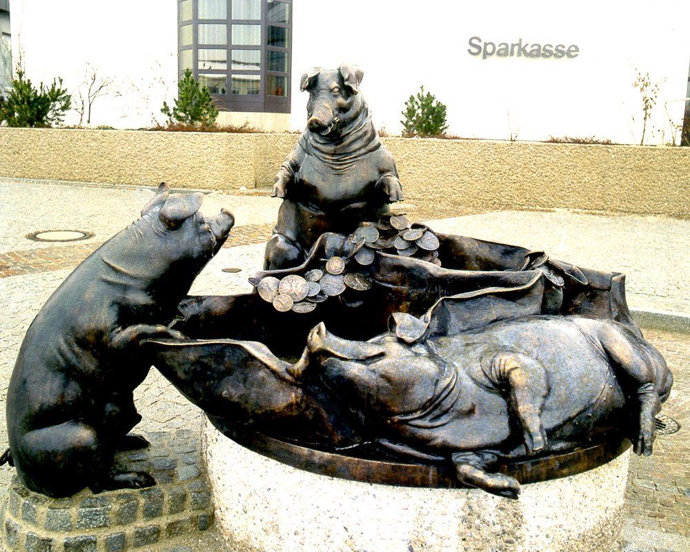 Sparschweinbrunnen, Sparkasse Eggenfelden
